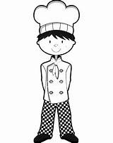 Coloring Pages Chefs Chef sketch template