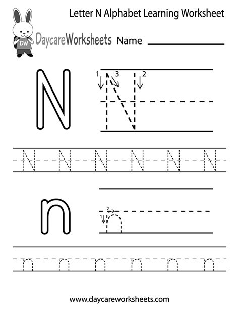 14 interesting letter n worksheets for kids kittybabylove com