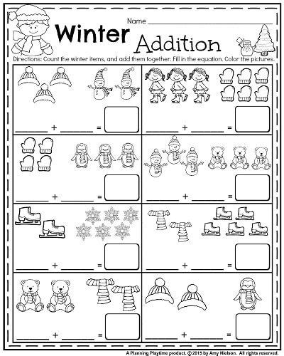 january kindergarten worksheets kindergarten kids