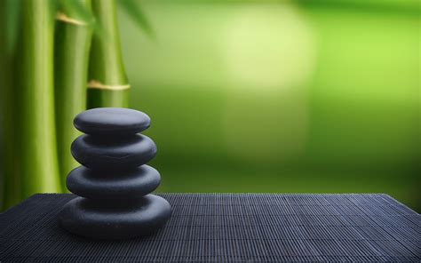 Stones Green Bamboo Wallpapers Hd Desktop And Mobile