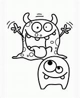 Coloring Monster Monsters Popular Moshi sketch template