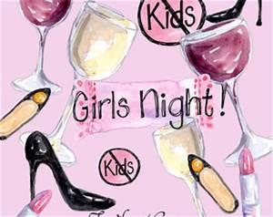 Girls night clip art | Etsy