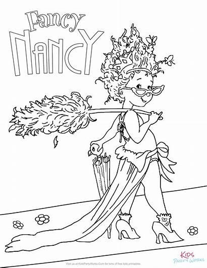Nancy Fancy Coloring Pages Disney Junior Party