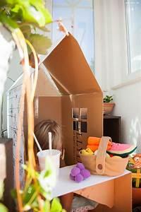 Aufbewahrungsbox Selber Machen : upcycling diy faltbares spielhaus und kaufladen aus einem einzelnen karton basteln mini and me ~ Markanthonyermac.com Haus und Dekorationen