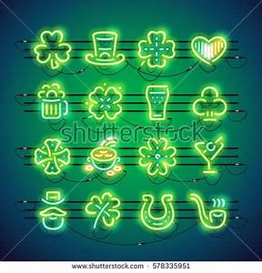Glowing Neon Bar Alphabet Used Pattern Stock Vector