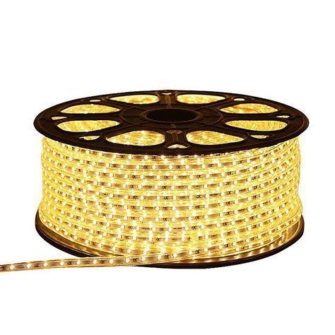 CLE LED Stripe Schlauch 10m 230V 5050 LEDs warmweiß 3000K