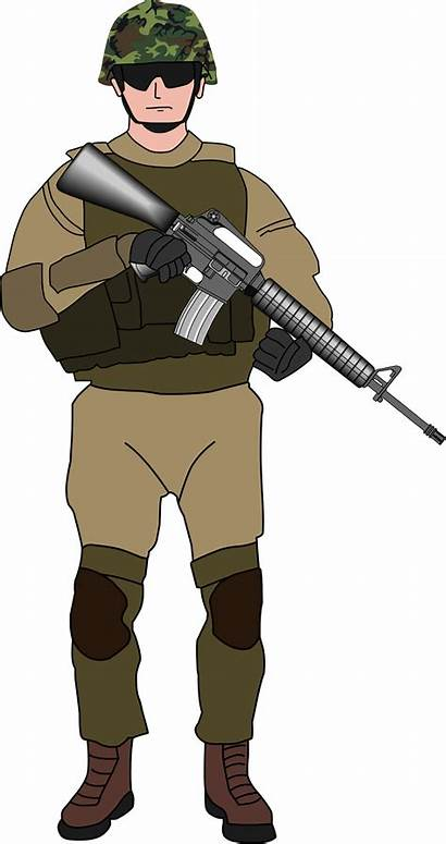 Soldier Army Clipart Military Transparent Tentara Character
