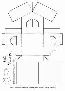 Haus Basteln Pappe Vorlage : basteln stall von bethlehem christliche perlen ~ Eleganceandgraceweddings.com Haus und Dekorationen