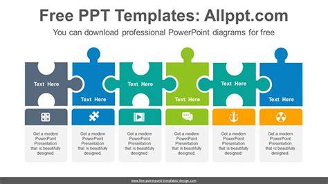 puzzle process powerpoint diagram templates puzzle process