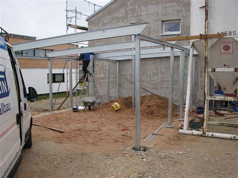Stahlkonstruktion Des Carports Baublog