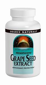 Grape Seed Extract  Proanthodyn  100mg Source Naturals  Inc  60 Caps 21078019657