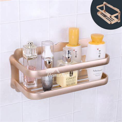 designer wall mount painting silver bathroom shelf