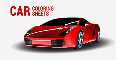 car coloring sheets sports muscle racing cars    esl