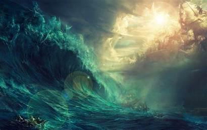 Epic Background Water Backgrounds Land Gods Desktop