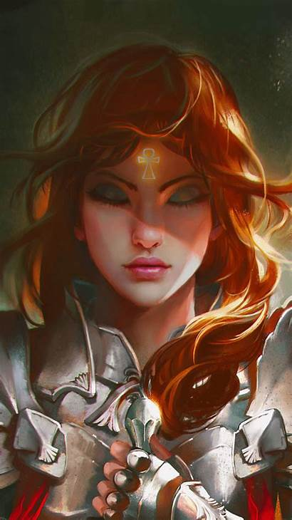 Warrior Fantasy Wallpapers Female Mobile Character Woman