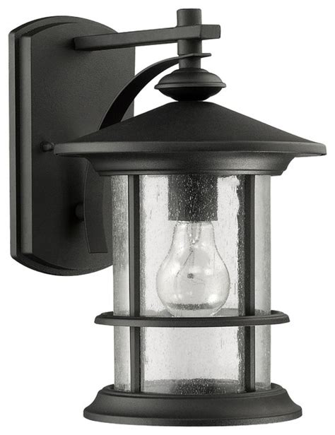 superiora transitional 1 light black outdoor wall