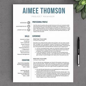 Creative Modern Resume Template For Word Us By