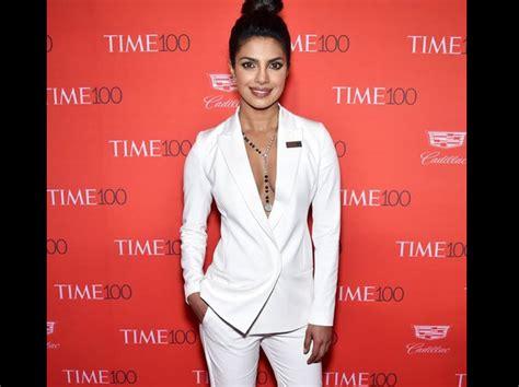 Deep Neck Pantsuit Priyanka Chopra Navbharat Times