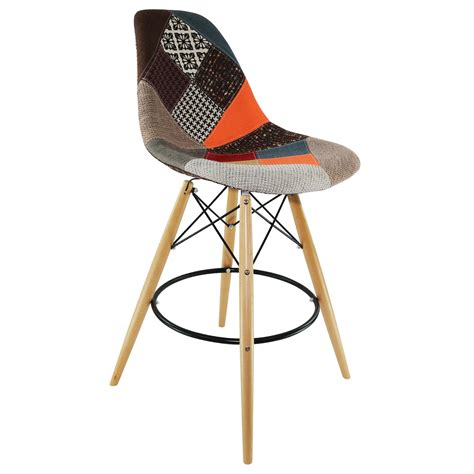 chaise multicolore tabouret dsw patchwork
