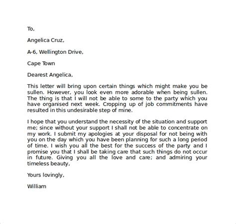 apology love letter    documents   word