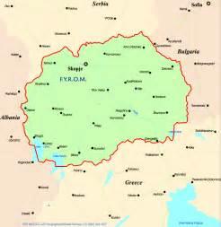 Macedonia Cities Map
