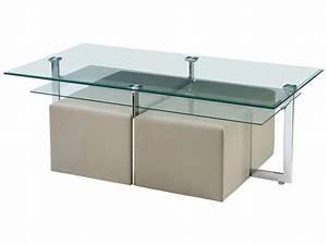 Table Basse 4 Poufs : table basse 4 poufs elgaro ~ Teatrodelosmanantiales.com Idées de Décoration