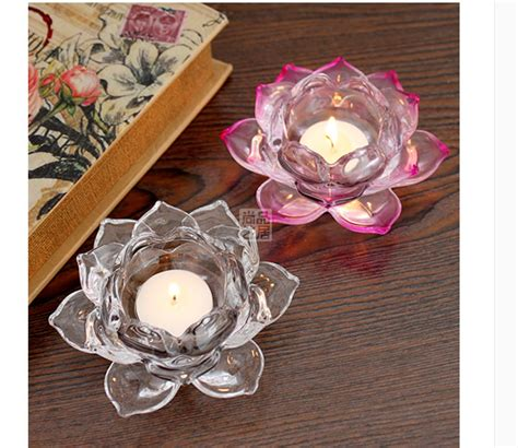 lotus candle holder transparent lotus candle holder supplier clear