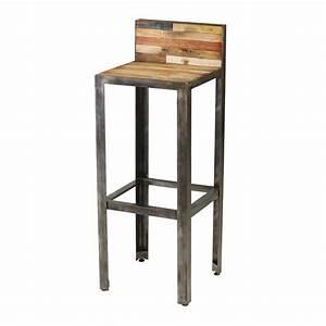 Tabouret En Bois Pas Cher : tabouret de bar bois metal design en image ~ Teatrodelosmanantiales.com Idées de Décoration
