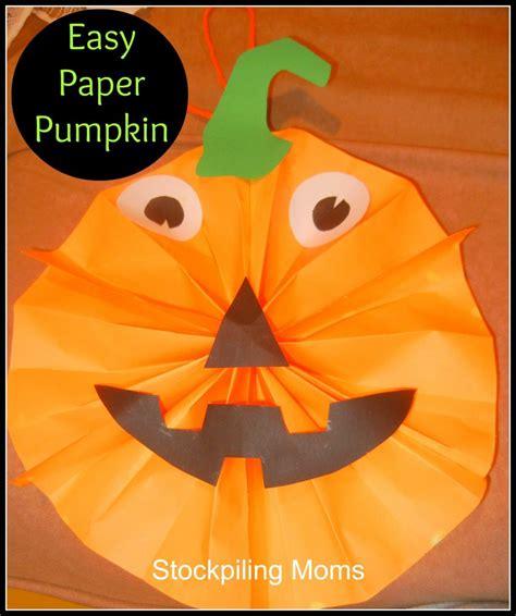 Easy Paper Pumpkin Halloween Craft