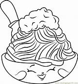 Spaghetti Coloring Shopkins Netti Meatballs Template Printable Children Getcolorings Coloringpages101 sketch template