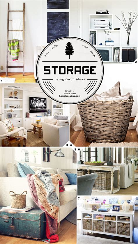 Creative Living Room Storage Ideas  Home Tree Atlas
