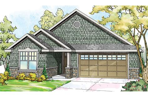 Shingle Style House Plans  Umpqua 30825  Associated Designs