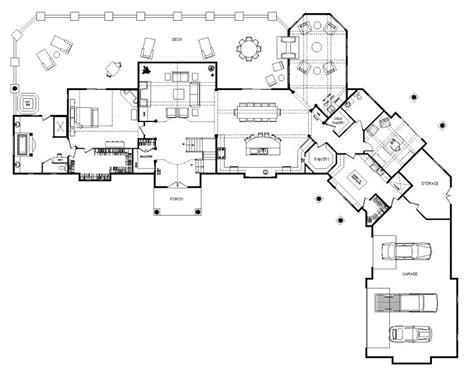 Luxury Log Home Floor Plans Cabin Interiors Kitchens