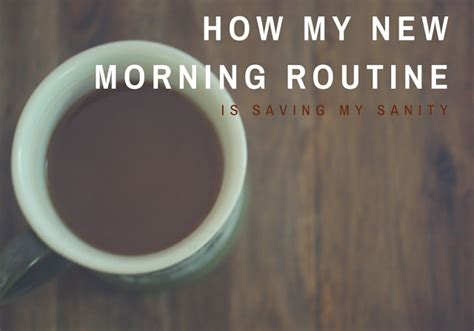 How My New Morning Routine Is Saving My Sanity  Learning