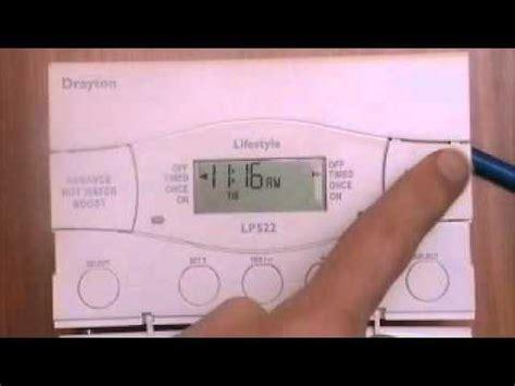 drayton lp522 boiler programmer youtube