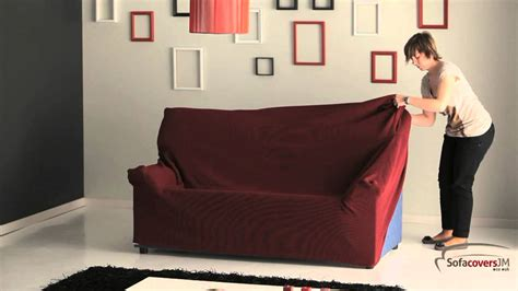 How To Make A Slipcover For A Loveseat by How To Install A Elastic Sofa Cover
