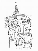 Temple Coloring Lds Pages Happy Primary Temples Families Church Drawing Going Gospel Printable Standing Sealing Synagogue Illustration Getcolorings Homeschool Deseret sketch template