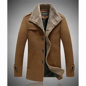 Veste En Laine Homme : veste d 39 hiver 2015 hommes de la laine parka achat ~ Carolinahurricanesstore.com Idées de Décoration