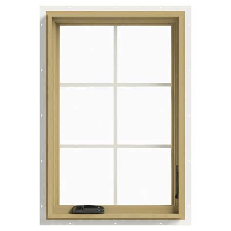 jeld wen         hand casement aluminum clad wood window thdjw
