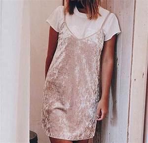 Dress velvet velvet dress slipdress trendy blogger tumblr outfit pretty pink pink dress ...