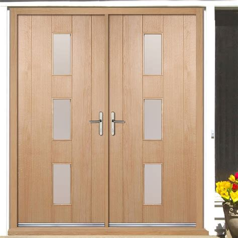copenhagen external oak double door  frame set