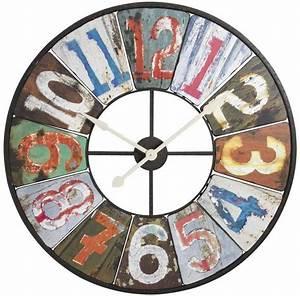 Grande Horloge Industrielle : horloge rustique vintage ~ Teatrodelosmanantiales.com Idées de Décoration