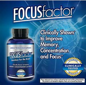 Focusfactor  Memory Concentration  U0026 Focus Supplement  150 Tablets