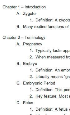 outlines   biology  prenatal development dvd