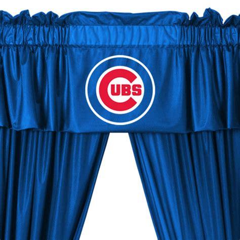 new 5pc mlb chicago cubs drapes valance set baseball