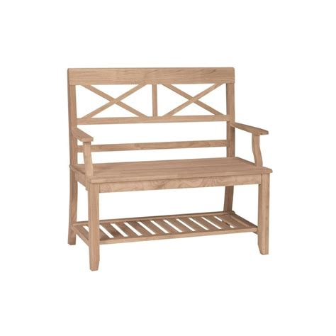 International Concepts Unfinished Benchbe1  The Home Depot