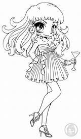 Chibi Yampuff Deviantart Coloring Lineart Pages Naomi Wear Chibis Evening Kawaii Adult Anime Printable Yaten Kou Sureya Elves Casual sketch template