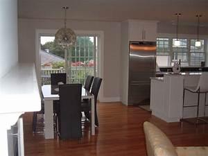 White Kitchen  Small Open Floor Plan