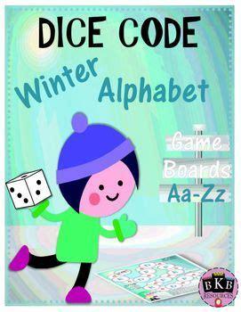 winter alphabet activity alphabet game dice game