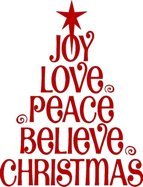 details about love joy christmas wall lettering sticker
